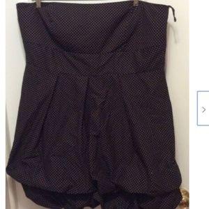 torrid Dresses - Torrid Dress 26W Blue Pink Polka Dot Strapless